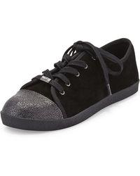 Delman - Magie Low-top Suede Sneaker - Lyst