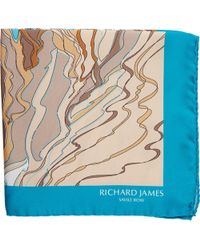 Richard James - Abstract Dune Pocket Square - Lyst
