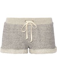 Enza Costa Cotton French Terry Shorts - Lyst