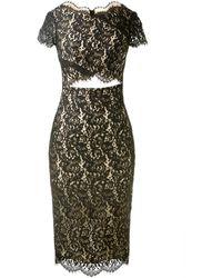Lover Black Lace Dress - Lyst