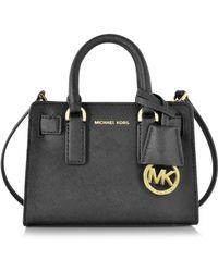 Michael Kors - Dillon Black Saffiano Leather Extra Small Crossbody Bag - Lyst
