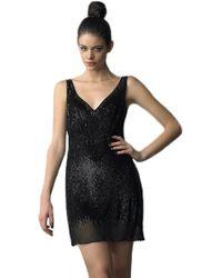 Basix Black Label Sequin Shift Dress - Lyst