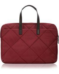 Knomo - Paddington Talbot Slim Laptop Briefcase Bordeaux - Lyst