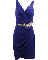 Notte by Marchesa Cocktail Dress With Drape - Lyst