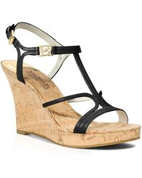 MICHAEL Michael Kors Open Toe Platform Wedge Sandals - Cicely - Lyst