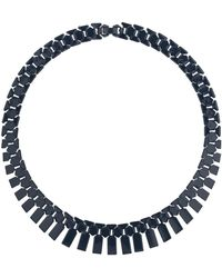 Topshop Navy Track Collar Necklace - Lyst