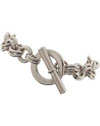 Karen Millen Swarovski Crystal Bar and Hoop Bracelet - Lyst
