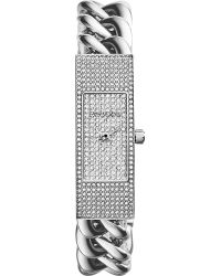 Michael Kors Hayden Pavéembellished Chainlink Watch Clear Pave - Lyst