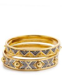 House of Harlow 1960 - Desert Sun Engraved Bracelet Set - Lyst