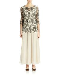 Alex Evenings Lace Overlay Gown - Lyst
