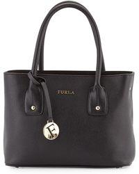 Furla Josi Small Leather Tote Bag black - Lyst