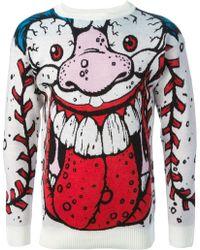 Jeremy Scott Baseball Face Sweater - Lyst