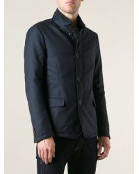 Giorgio Armani Stand-up Collar Zipped and Button Fastening Jacket - Lyst