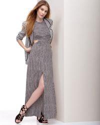 A.L.C. Loretta Cut Out Slit Stripe Dress gray - Lyst