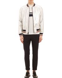 Marc By Marc Jacobs - Metallic Leather Bomber Jacket - Lyst