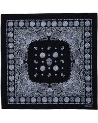 Alexander McQueen Square Scarf black - Lyst