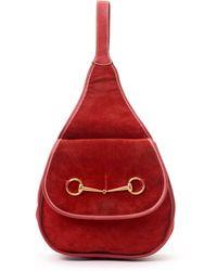 Gucci Red Shoulder Bag - Lyst