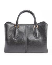 Tod's Black Leather Mini Top Handle Bag - Lyst