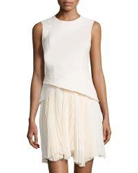 Philosophy di Alberta Ferretti Tulip-Top Pleated Drop-Waist Dress - Lyst