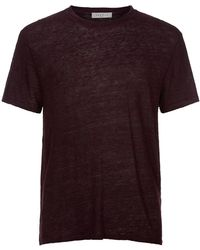 Sandro | Clash Linen T-shirt | Lyst