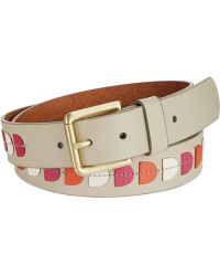 Fossil Leather Applique Belt - Lyst
