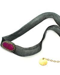 Soru Jewellery - Magenta Agate Choker/wrap Bracelet - Lyst