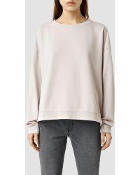 AllSaints | Lo Crew Sweatshirt | Lyst
