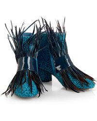 House of Holland - Ss16 'fear And Loafing' Blue Ankle Boots - Lyst