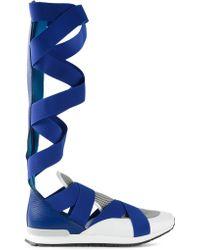 Vionnet - Crossed Strap Sneaker Boots - Lyst