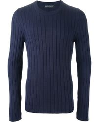 Dolce & Gabbana Ribbed Sweater - Lyst