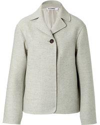 Jil Sander Fleece Wool Scipione Jacket - Lyst