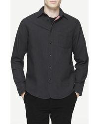Rag & Bone | black Three Quarter Placket Shirt | Lyst