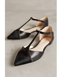 Anthropologie Black Vanessa Flats - Lyst