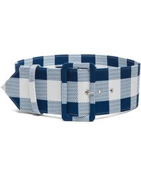 Derek Lam | Plaid Faille Wide Belt | Lyst
