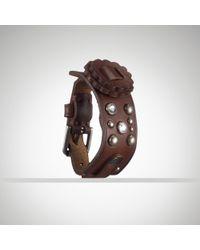 Ralph Lauren Studded Singlewrap Bracelet - Lyst
