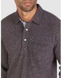Faherty Brand - Luxe Heather Long-sleeve Polo - Lyst