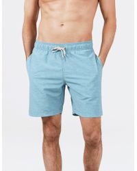 24db1cdd59 Faherty Brand Beacon Fish-scale Printed Swim Shorts in Blue for Men - Lyst