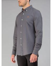 Farah - The Brewer Slim Fit Shirt - Lyst