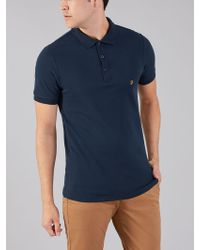 Farah - The Blaney Short Sleeve Polo Shirt - Lyst