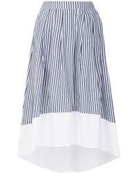 Roberto Collina - Striped Flared Skirt - Lyst