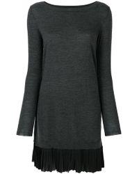 P.A.R.O.S.H. - Pleated Hem Jumper Dress - Lyst
