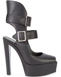 Vera Wang - Buckled Platform Court Shoes - Lyst