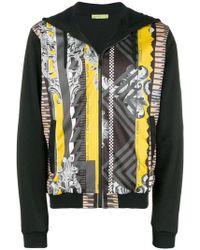 Versace Jeans - Printed Hooded Jacket - Lyst