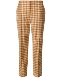 Nina Ricci - Checked Tailored Trousers - Lyst