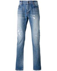 Saint Laurent - Jeans in Distressed-Optik - Lyst