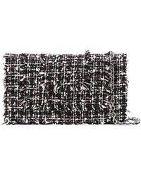 Casadei - Tweed Clutch Bag - Lyst