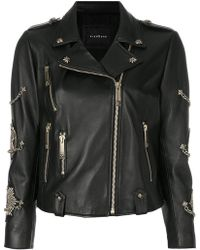 John Richmond | Zipped Biker Jacket | Lyst
