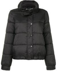 Donna Karan - Logo Patch Puffer Jacket - Lyst