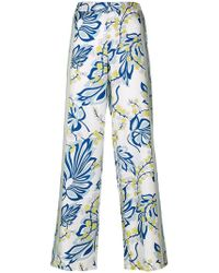 P.A.R.O.S.H. - Floral Printed Trousers - Lyst