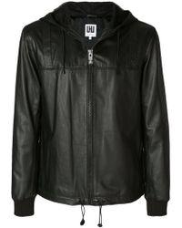 Les Hommes - Hooded Biker Jacket - Lyst